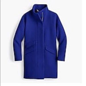 New J Crew Cocoon Coat in Brunswick Blue